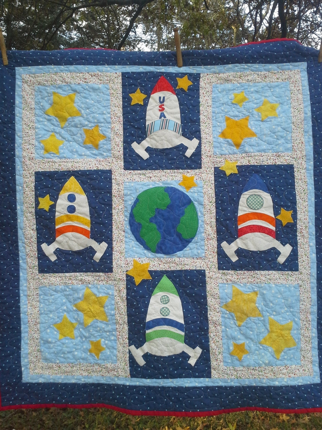 Space bedding custom boy bedding crib toddler bedding for Outer space quilt
