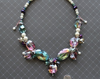 Large crystal necklace!