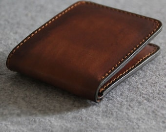 Genuine Leather wallet --simple style purse--Men's wallet--Vegetable tanned leather