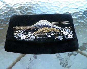 Velvet Mount Fiji Evening Bag
