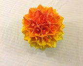 Orange, Yellow, and Green Paper Centerpiece