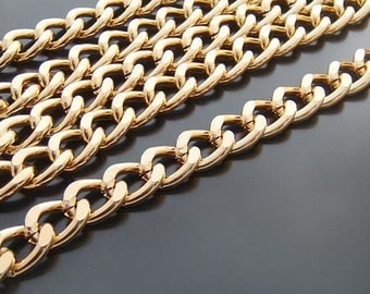 Jewelry Chain HEAVY Oxidation Chunky Gunmetal Chain Aluminum Cable Chain Necklace Chain 3.2ft (1m) 18x13mm 100-007