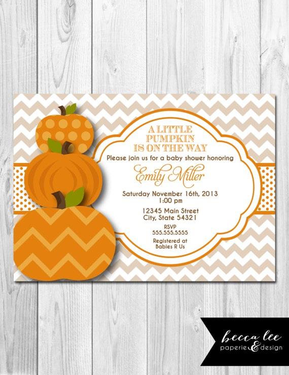 little pumpkin baby shower invitation diy printable by becca lee
