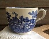 Blue and white english ironstone large mug