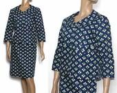 Vintage 1950s 1960s Suit Designer Daisies Mad Man Femme-Fatale Hourglass Pencil-Wiggle Rockabilly Garden Party