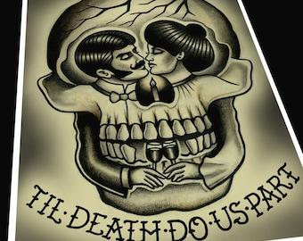 Til' Death Do Us Part Tattoo Print