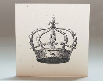 Crown, Royalty, Blank Notecards, Gift Tags