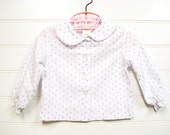 Vintage Baby Shirt, 1970's, Vintage Sears. White and Lavender.