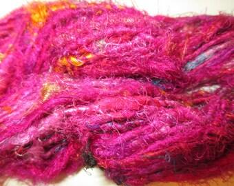 100 grams,  Mulberry Silk Yarn,  Pink,  Fair Trade item