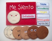 Spanish Feelings Felt Chart Emotions chart Sentimientos españolas Fieltro Chart Gráfico Emociones