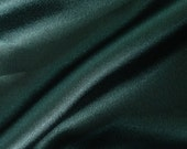 Polyester Charmeuse Dark Green Fabric (by the yard)