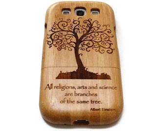wooden Samsung Galaxy S3  case - wooden S3 case walnut / cherry or bamboo -  Tree