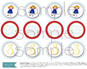 Madeline Printable  DIY Cupcake Toppers