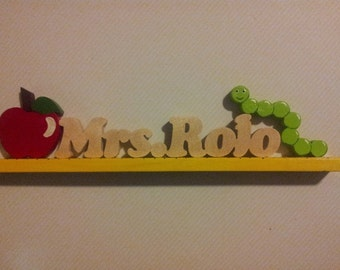 Teacher name plate