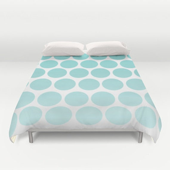 duvet cover polka dots bed cover duvet by shelleyscrochetole. Black Bedroom Furniture Sets. Home Design Ideas