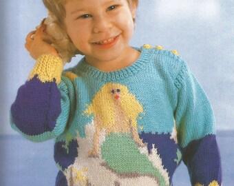 Little Mermaid Kids Pullover Sweater - pdf pattern