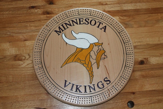 Vikings Football Cribbage Board By Pensnmore On Etsy