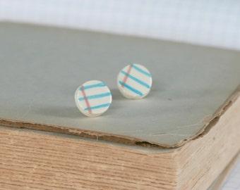 Mini Notebook Round Earrings