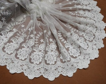 lace trim, cotton embroidered lace fabric, tulle lace with rose floral
