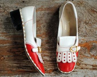 Vintage Mod Shoes- Womens Shoes, Millerkins, Size 7 Narrow