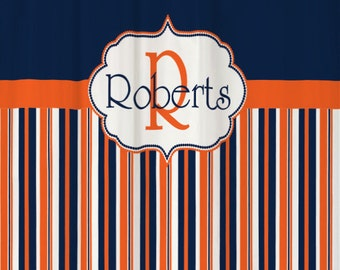 navy and orange shower curtain. Shower Curtain Stripes YOU CHOOSE COLORS 70  74 78 84 88 Large Striped Custom Navy Blue and White