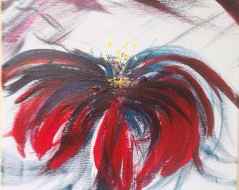 Blue & red flower