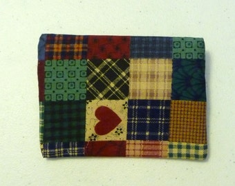 Small zipper pouch, coin purse, earbud case - country patch