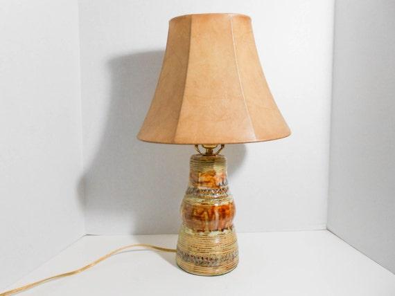 Handmade Ceramic Lamps : Handmade ceramic table lamp in shades of by tamarackstoneware