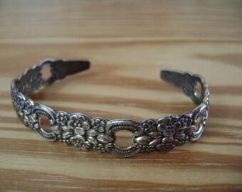 vintage sterling repousse bracelet