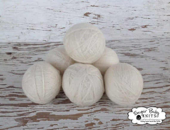 Eco Friendly Wool Laundry Felted Dryer Balls Set of 4 - Customer Color, Laundry Balls, Dryer Balls, Eco Friendly, Felted