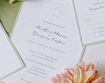 Digital Rustic Vintage Wedding Invitation Suite