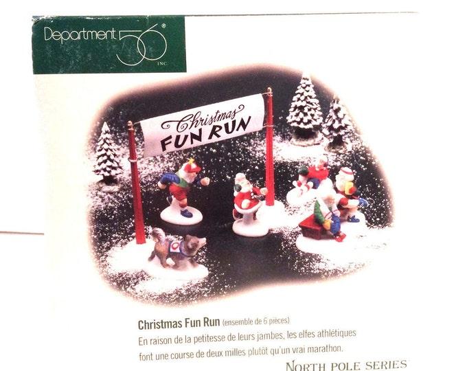 Department 56 North Pole Series Christmas Fun Run, Dept 56 Accessories 56434, Village Figurine Accessories, Christmas Gift