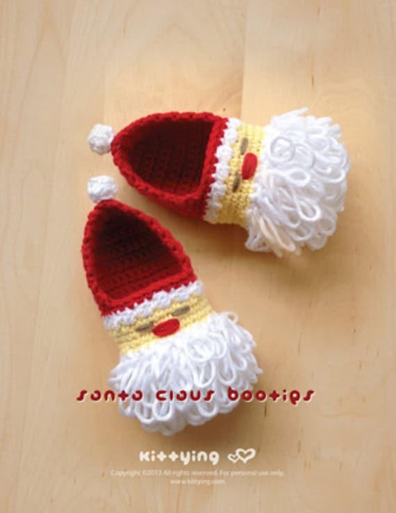 Babbo Natale Scarpette da neonato all'uncinetto il modello per Vacanze