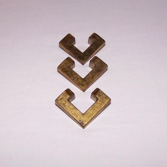 vintage brass finish metal drawer pulls by downonloverslane