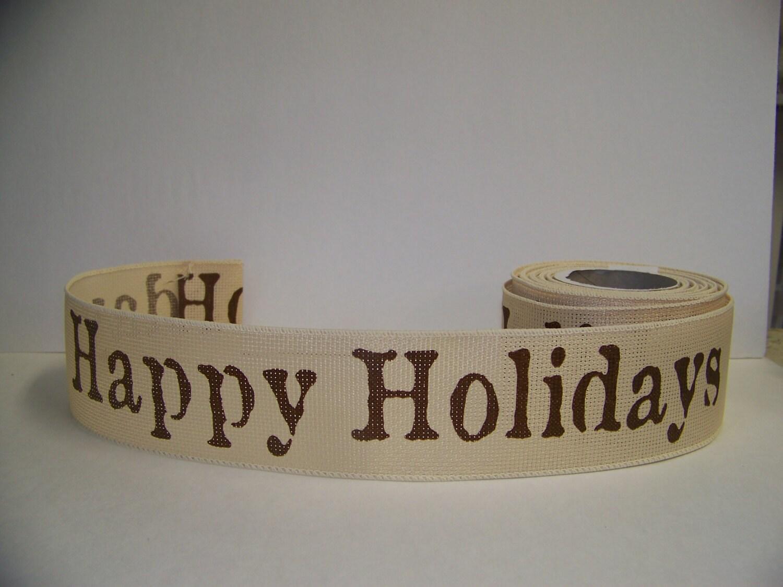 Christmas Ribbon Happy Holiday Decor Christmas Bows Gift