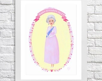 Queen Elizabeth II limited edition print.