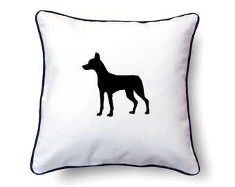 Andalusian Hound Pillow 18x18 - Andalusian Hound Silhouette Pillow - Personalized Name or Text Optional