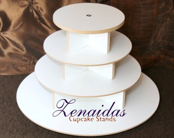 White Melamine Cupcake Stand 65 Cupcakes 4 Tier Round Cupcake Tower Display Stand Birthday Stand DIY Project