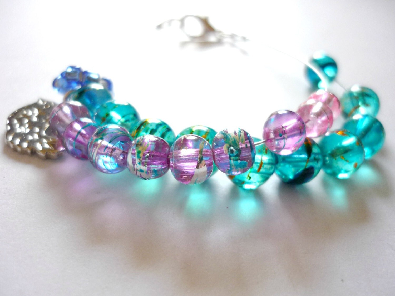Knitting Row Counter Bracelet : Row counter bracelet for knitting and crochet abacus
