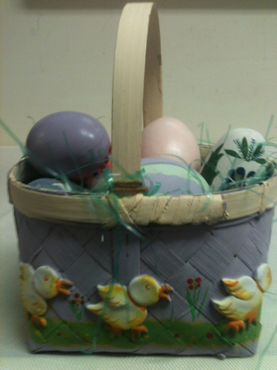 FREE SHIPPING Ceramic Bisque Easter Basket Easter Basket Glazed Easter Basket Ceramic Basket to Paint