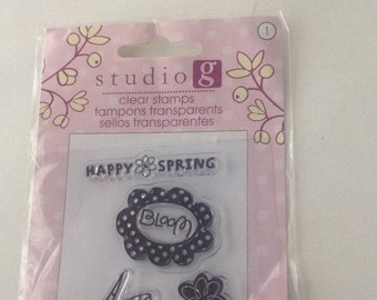 Studio G Clear stamps -Happy Spring clear stamps