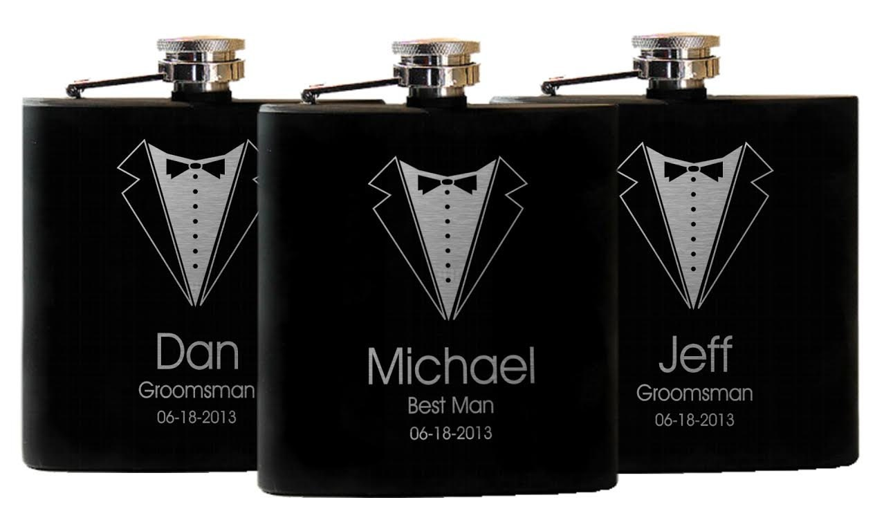 Unique Wedding Gifts For Groomsmen: Flasks 5 Groomsmen Gifts Custom Gift Groomsmen Suit And