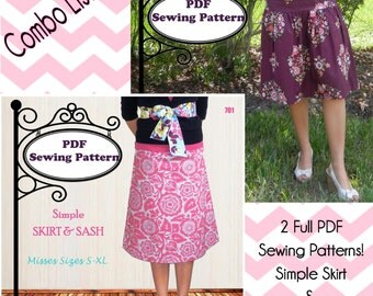 Skirt Combo -- Collection of PDF Sewing Patterns -- Instant Download!