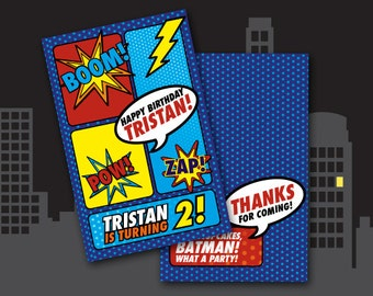 Superhero Themed Mini-Notebook Party Favor