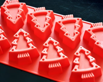 Flexible Silicone Chocolate Cake Candle Soap Molds - Christmas Tree Type 2