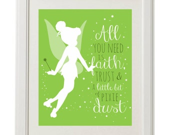 Tinkerbell Pixie Dust, Nursery Digital Printable