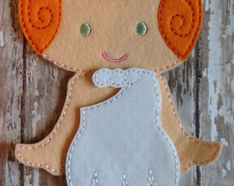 Yabba Dabba Doo: Wilma Flintstone Felt Doll and Outfit