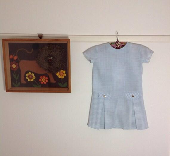 Vintage 1950s gingham little girls dress