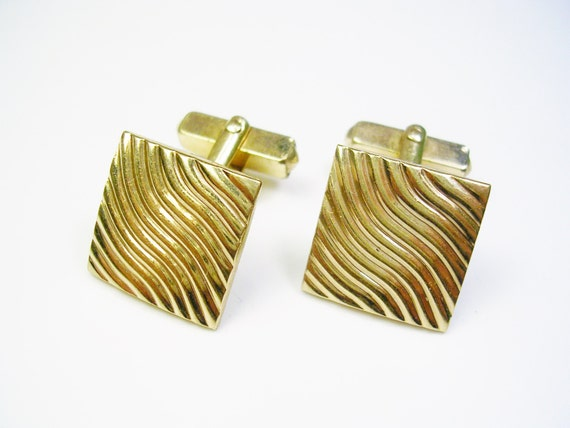 Mid century gold filled swank cufflinks black tie event for What is swank jewelry