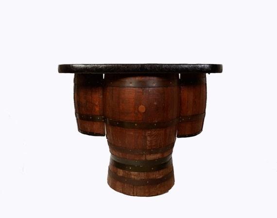 Whiskey Barrel Bar Mid Century Man Cave Barrel Furniture
